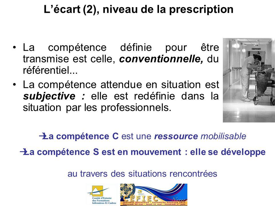 L'écart (2), niveau de la prescription