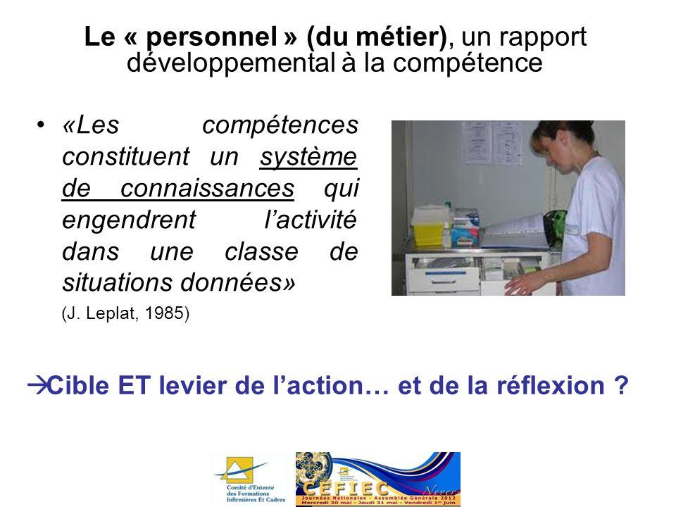 Le « personnel » (du métier), un rapport développemental à la compétence