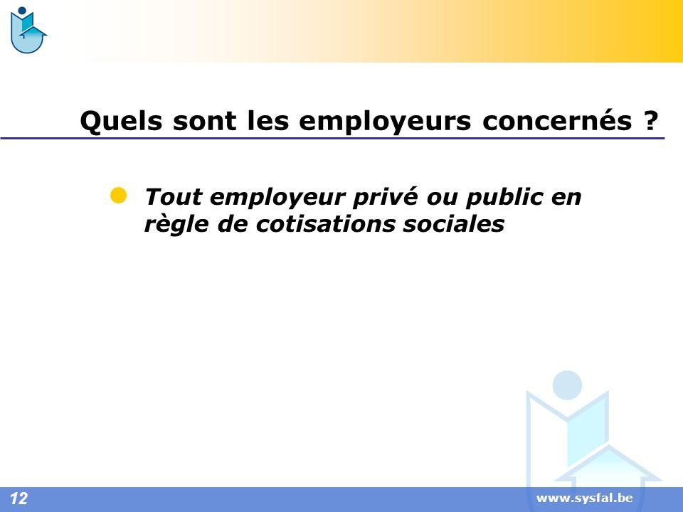 Quels sont les employeurs concernés