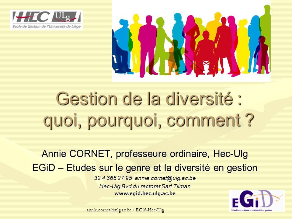 Gestion de la diversité : quoi, pourquoi, comment