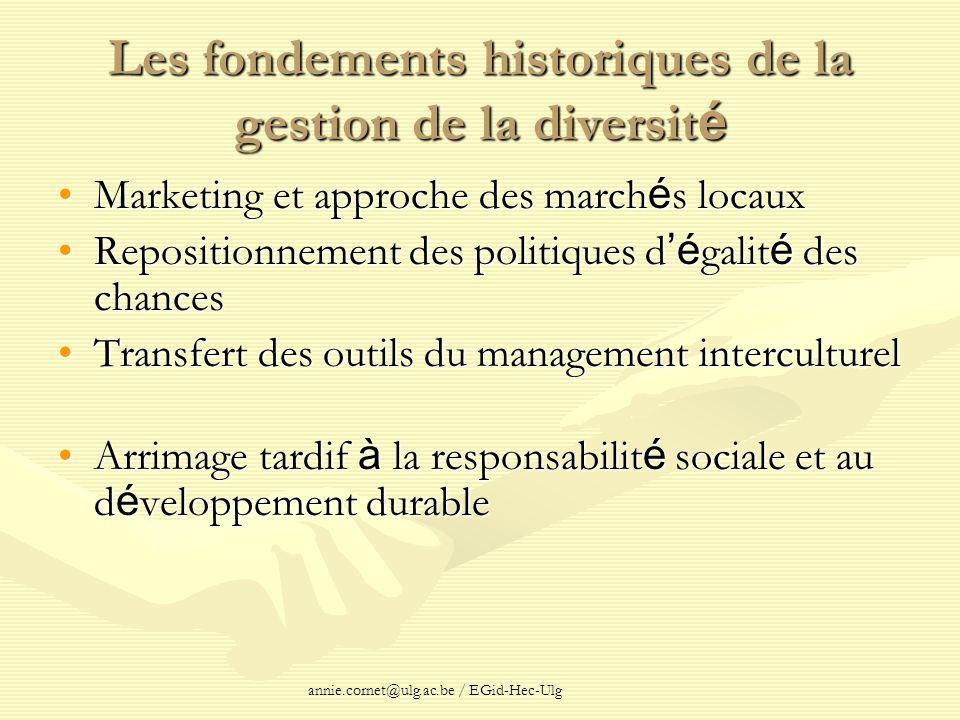 Les fondements historiques de la gestion de la diversité