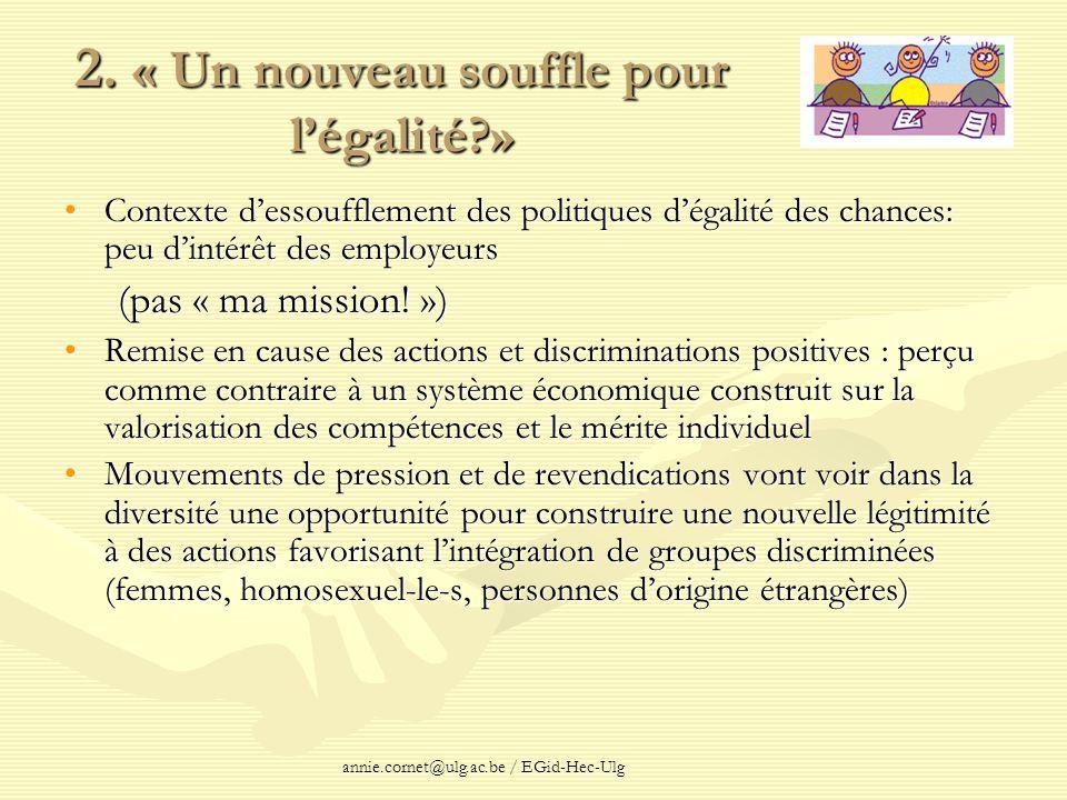 2. « Un nouveau souffle pour l'égalité »