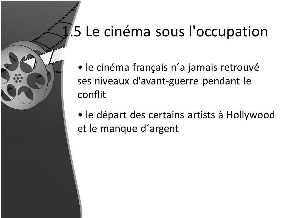 1.5 Le cinéma sous l occupation