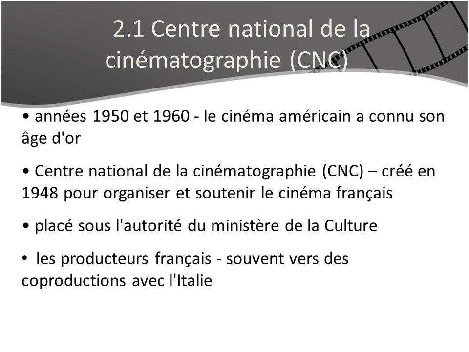 2.1 Centre national de la cinématographie (CNC)