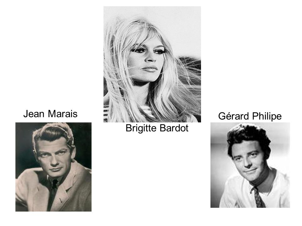 Jean Marais Gérard Philipe Brigitte Bardot