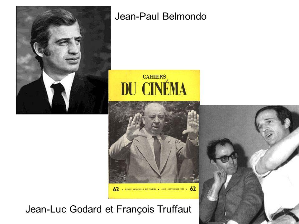 Jean-Paul Belmondo Jean-Luc Godard et François Truffaut