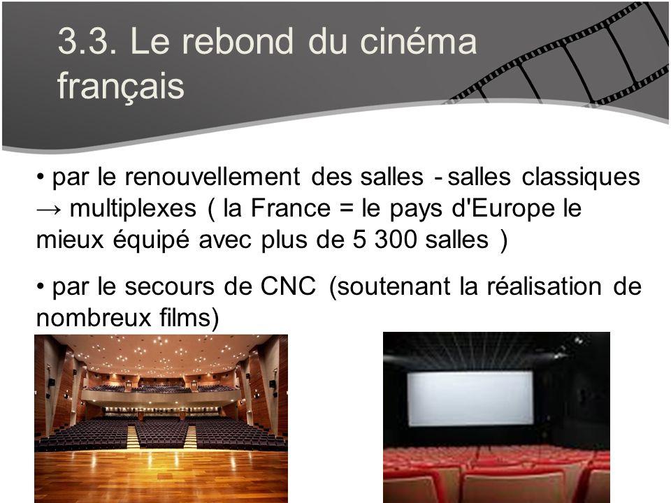 3.3. Le rebond du cinéma français