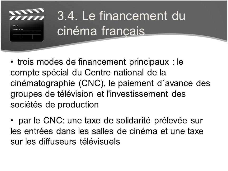 3.4. Le financement du cinéma français