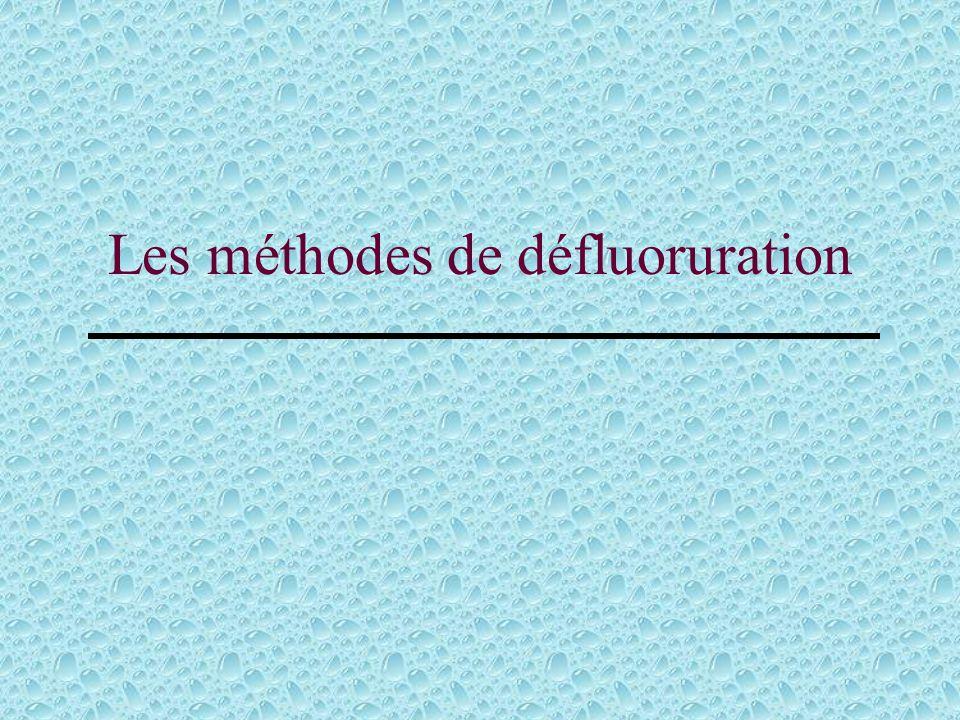 Les méthodes de défluoruration