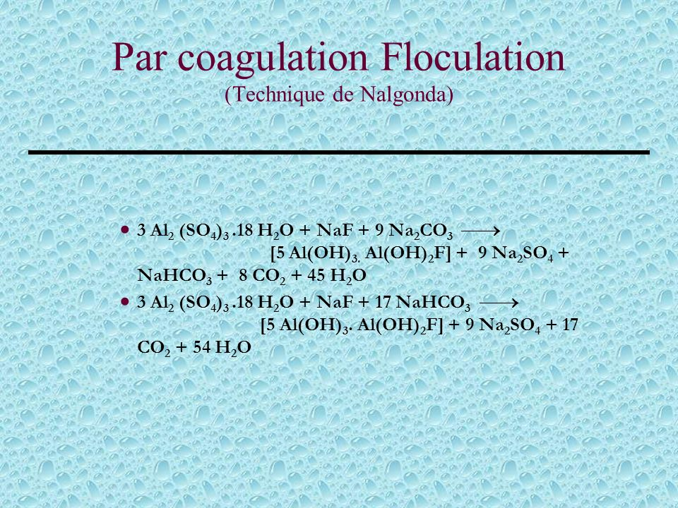 Par coagulation Floculation (Technique de Nalgonda)