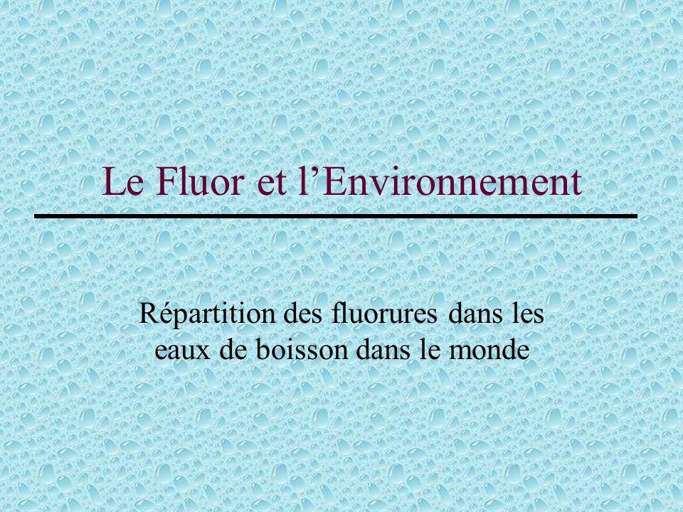 Le Fluor et l'Environnement