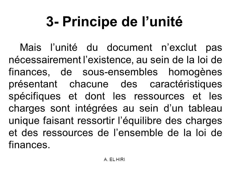 3- Principe de l'unité