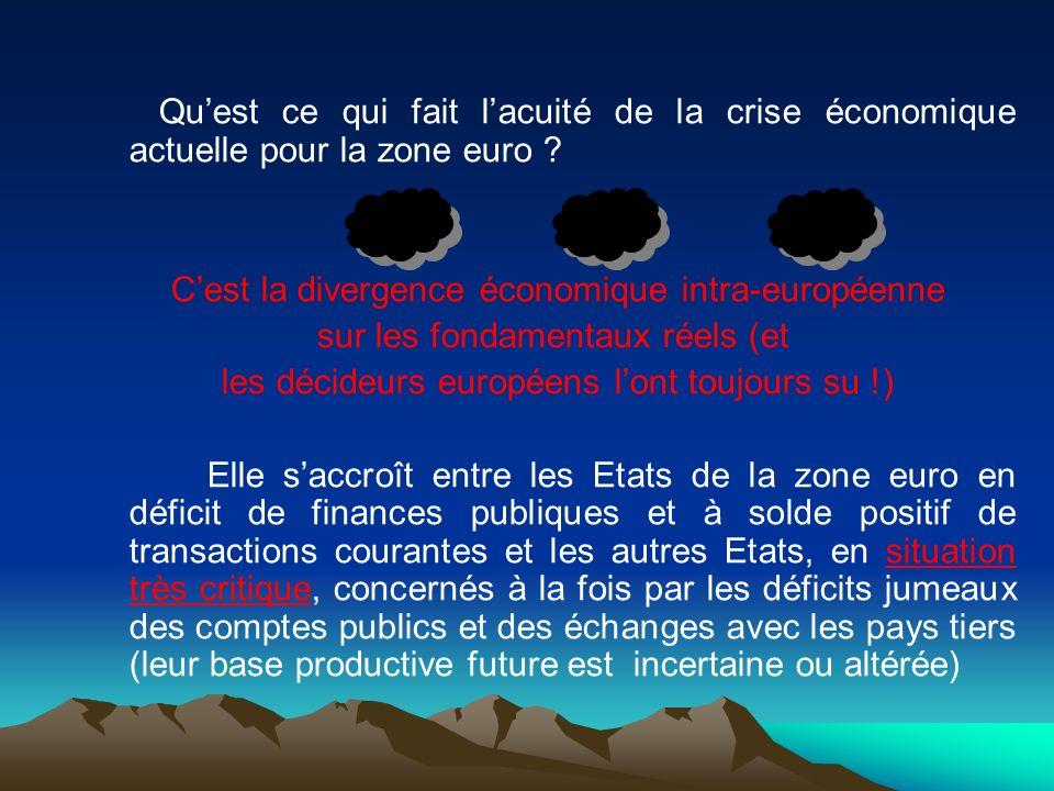 C'est la divergence économique intra-européenne