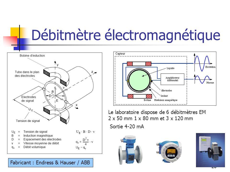 Débitmètre électromagnétique