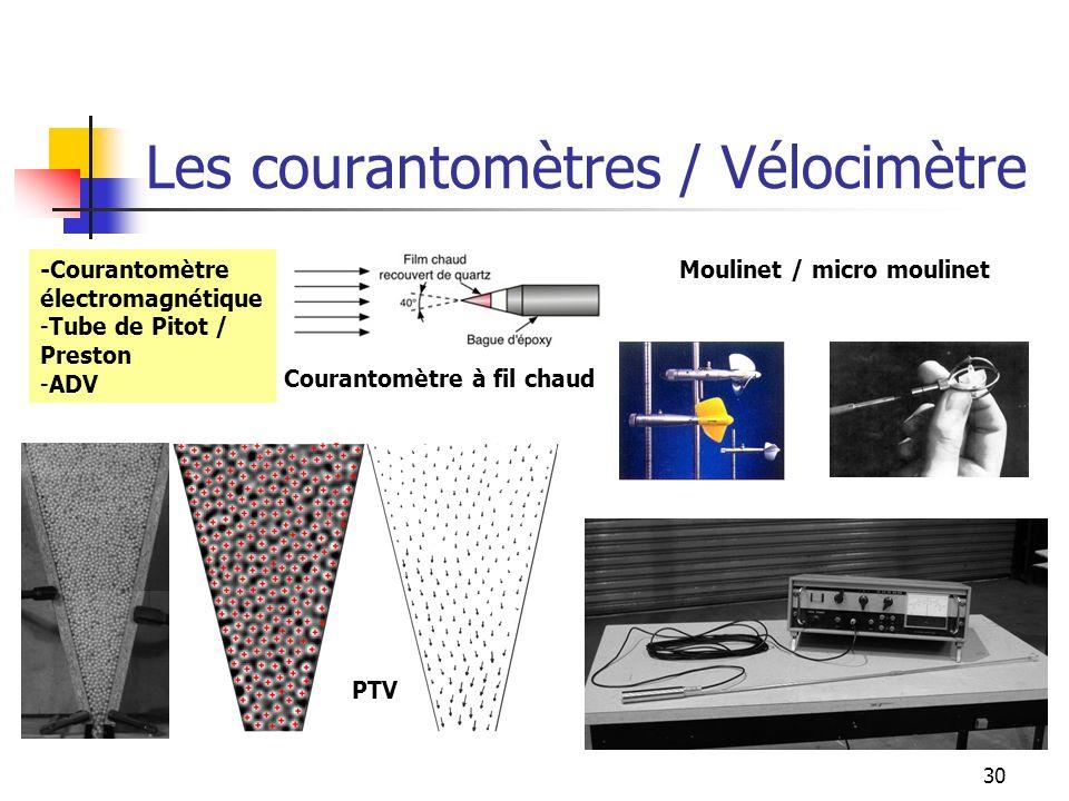 Les courantomètres / Vélocimètre