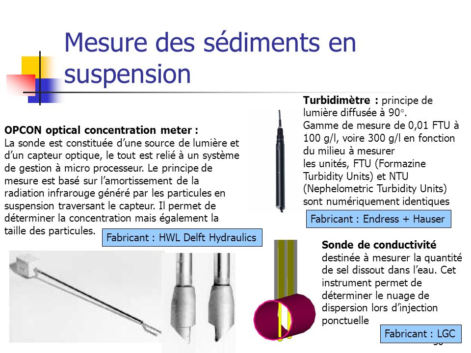 Mesure des sédiments en suspension