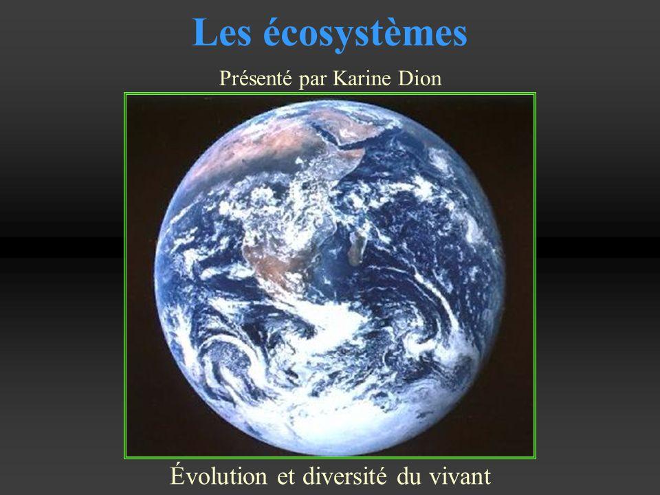 Les écosystèmes Évolution et diversité du vivant