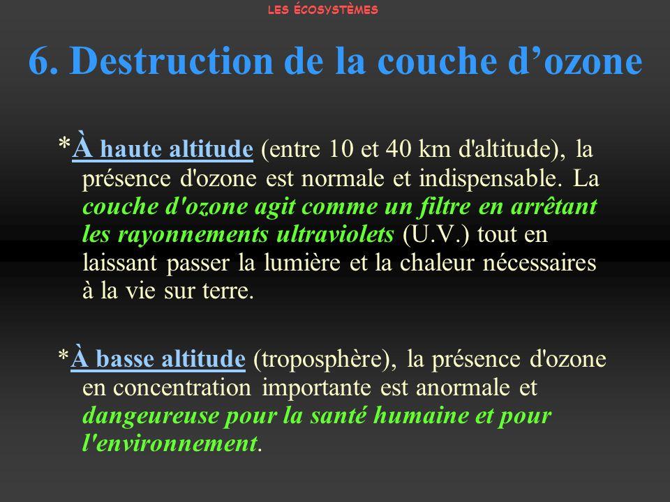 6. Destruction de la couche d'ozone