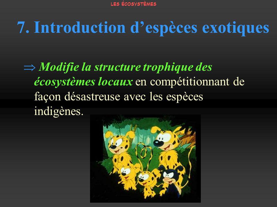 7. Introduction d'espèces exotiques