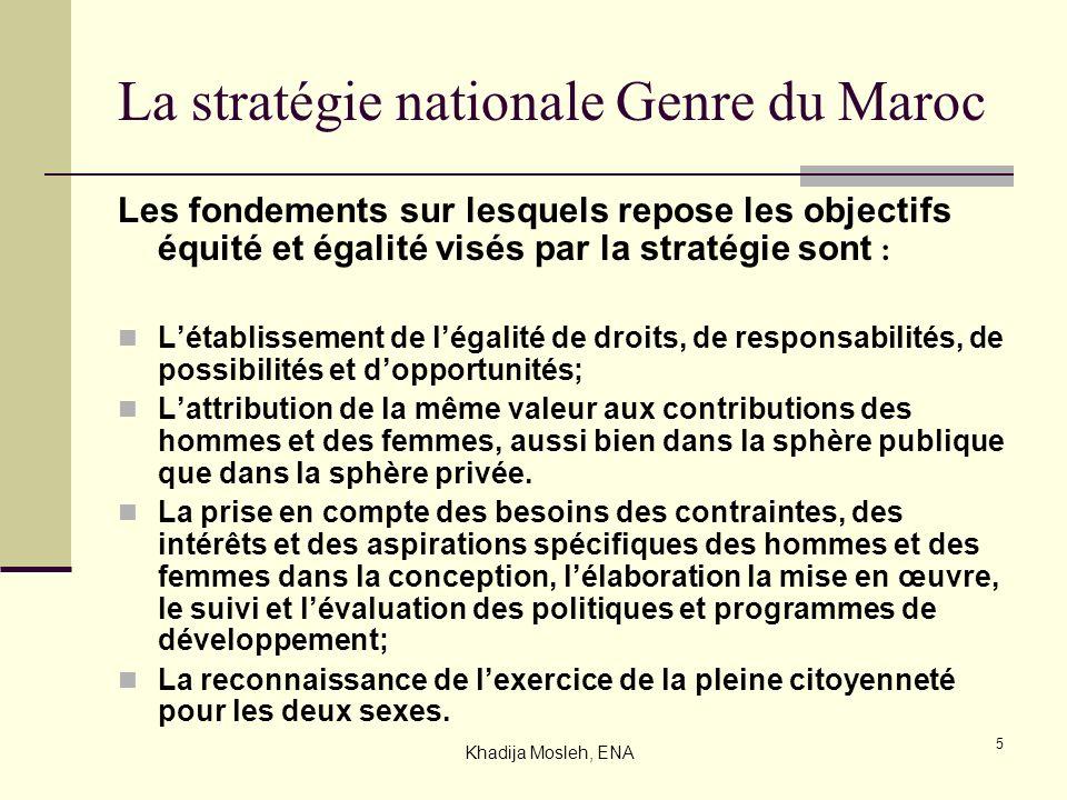 La stratégie nationale Genre du Maroc