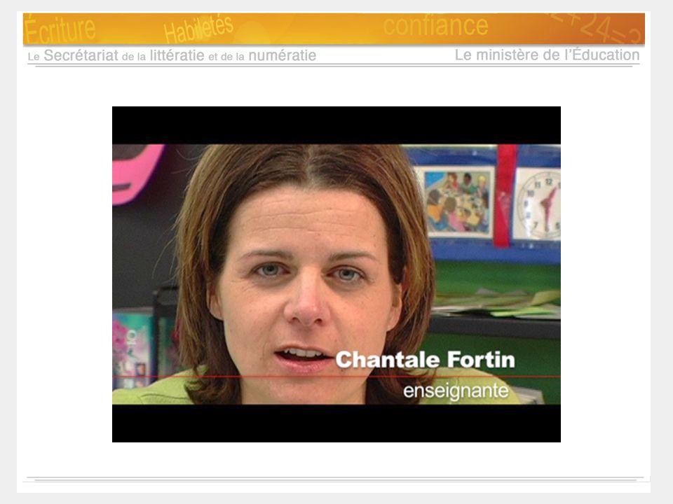 Notes d'animation: Chantale Fortin, enseignante au cycle primaire, nous parle de l'importance de la cueillette de données.
