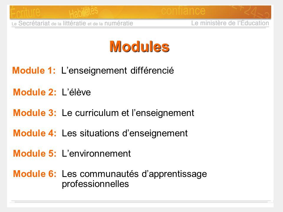 Module 1: L'enseignement différencié