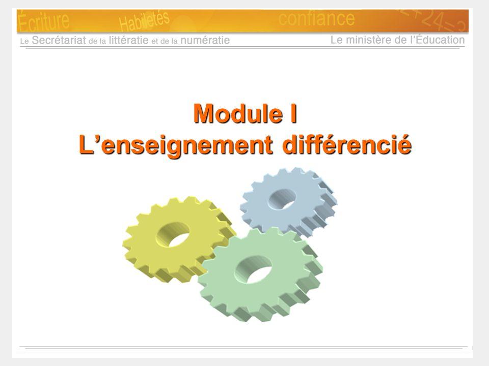 Module I L'enseignement différencié
