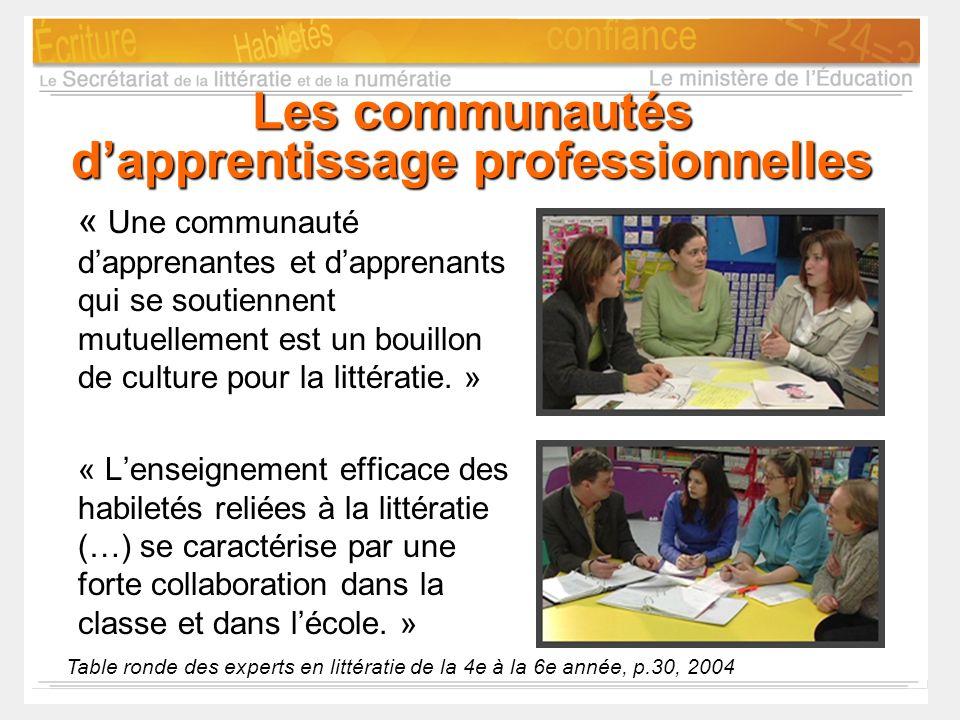 Les communautés d'apprentissage professionnelles