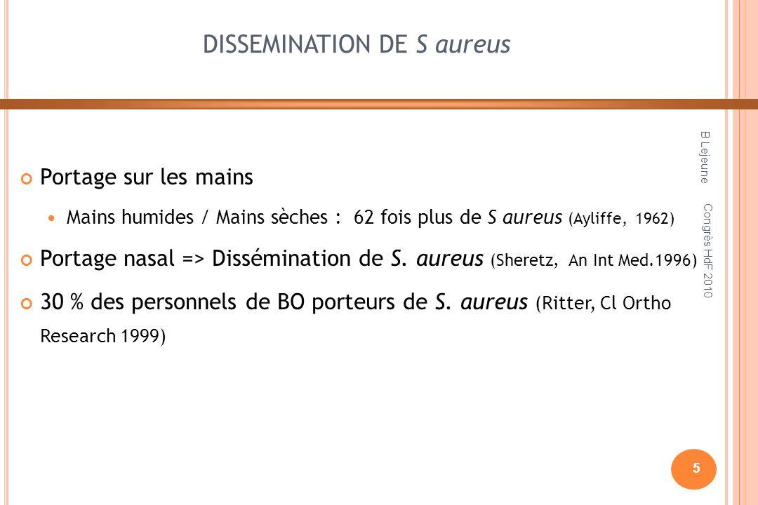 DISSEMINATION DE S aureus