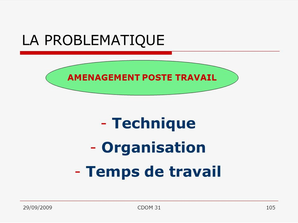 AMENAGEMENT POSTE TRAVAIL