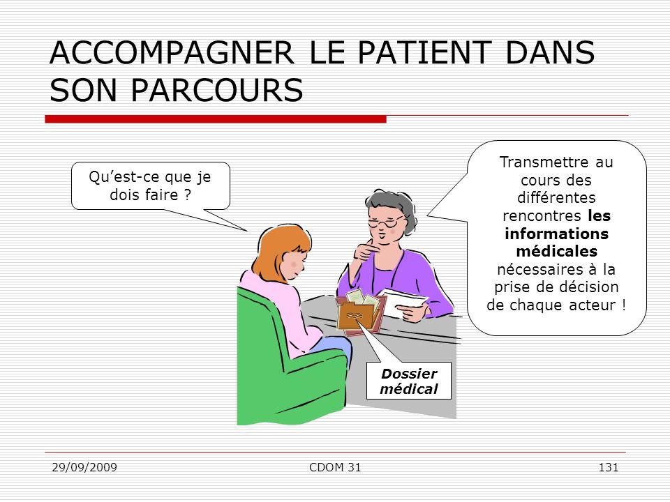 ACCOMPAGNER LE PATIENT DANS SON PARCOURS