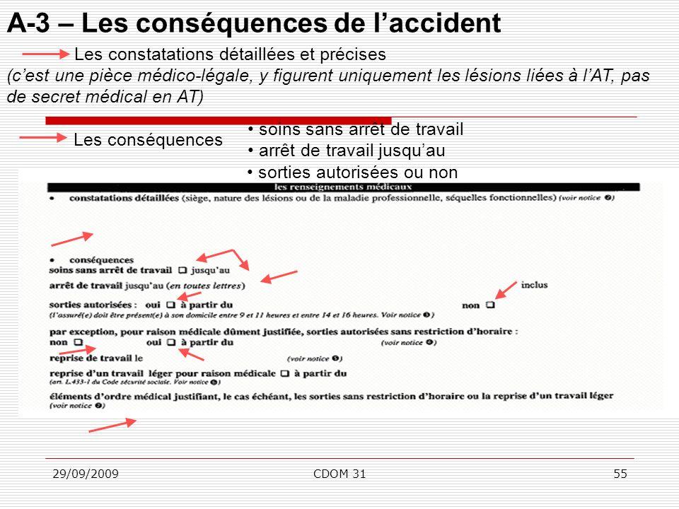 A-3 – Les conséquences de l'accident