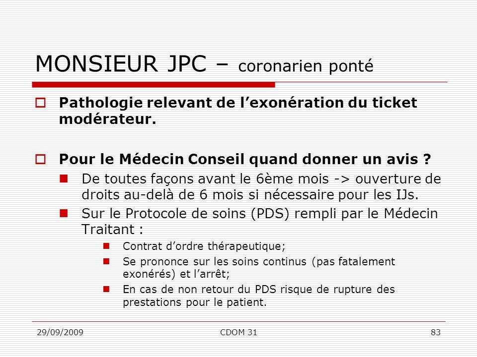 MONSIEUR JPC – coronarien ponté