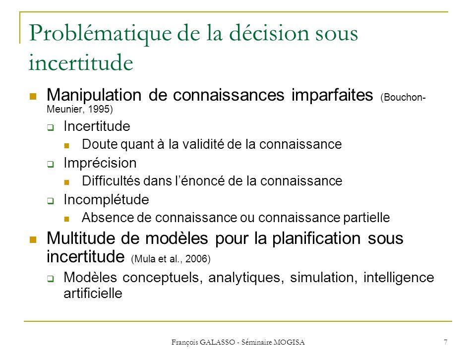 Problématique de la décision sous incertitude