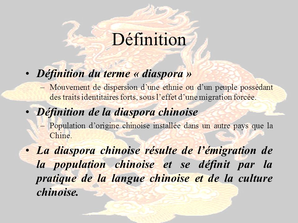 Définition Définition du terme « diaspora »