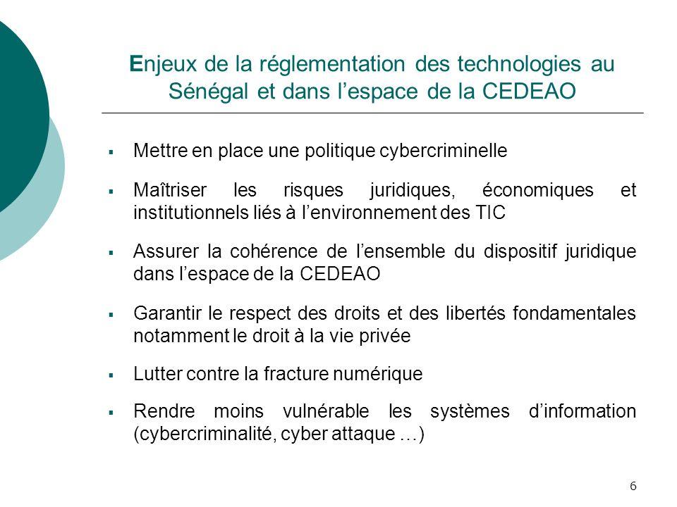 Enjeux de la réglementation des technologies au Sénégal et dans l'espace de la CEDEAO