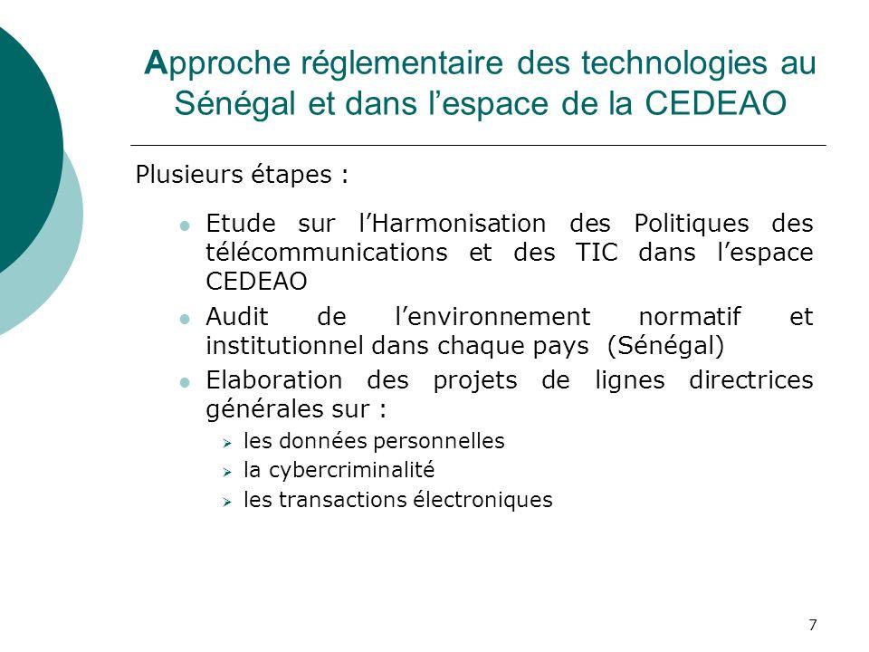 Elaboration des projets de lignes directrices générales sur :