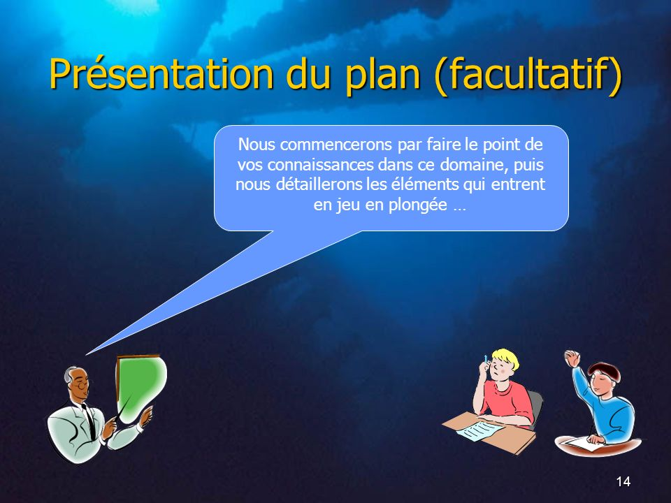 Présentation du plan (facultatif)