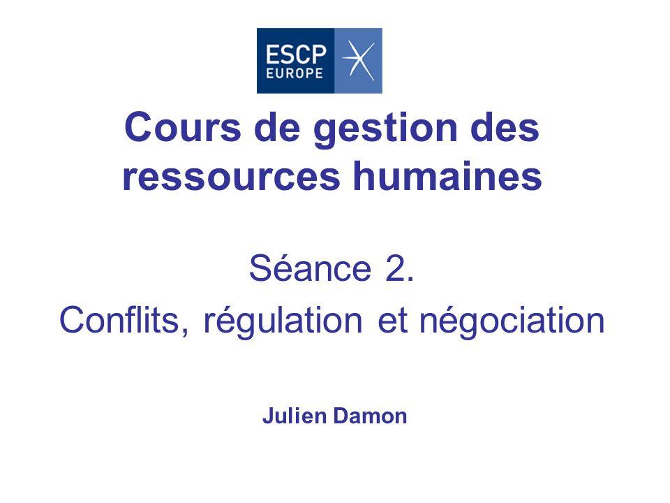 Cours de gestion des ressources humaines Séance 2