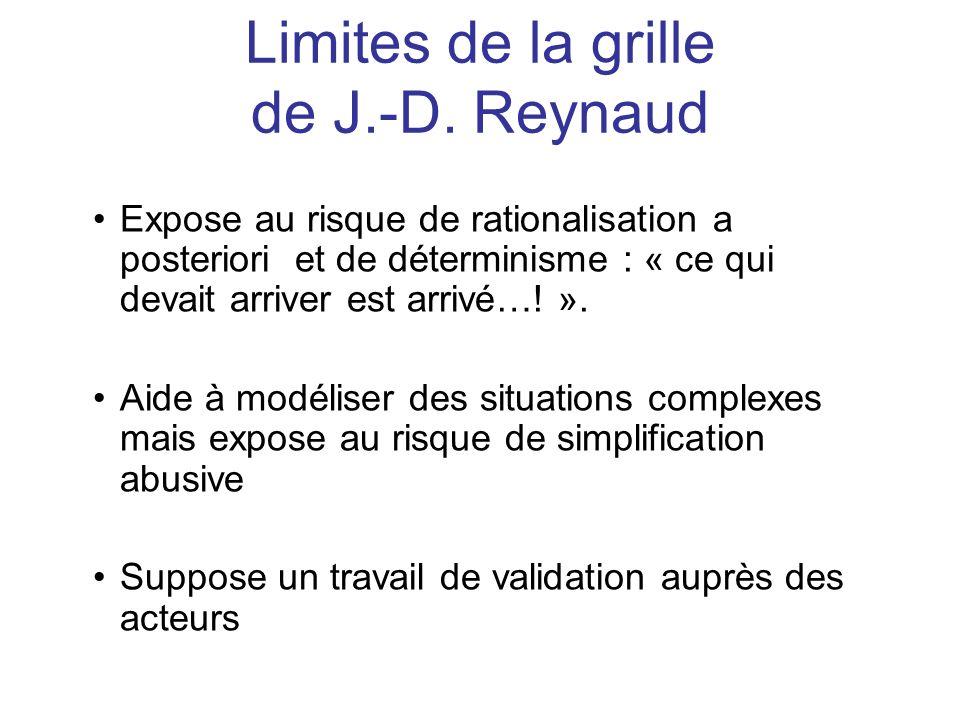 Limites de la grille de J.-D. Reynaud