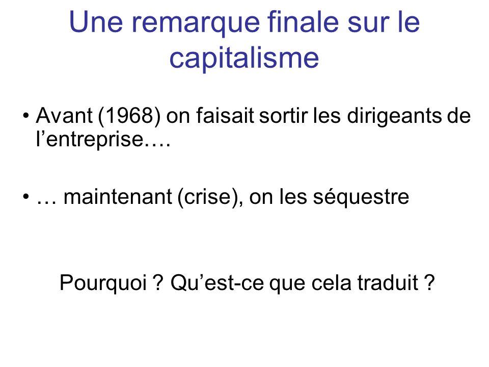 Une remarque finale sur le capitalisme