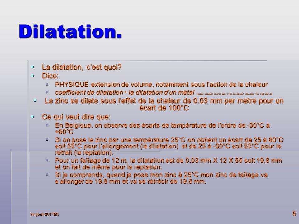 Dilatation. La dilatation, c'est quoi Dico: