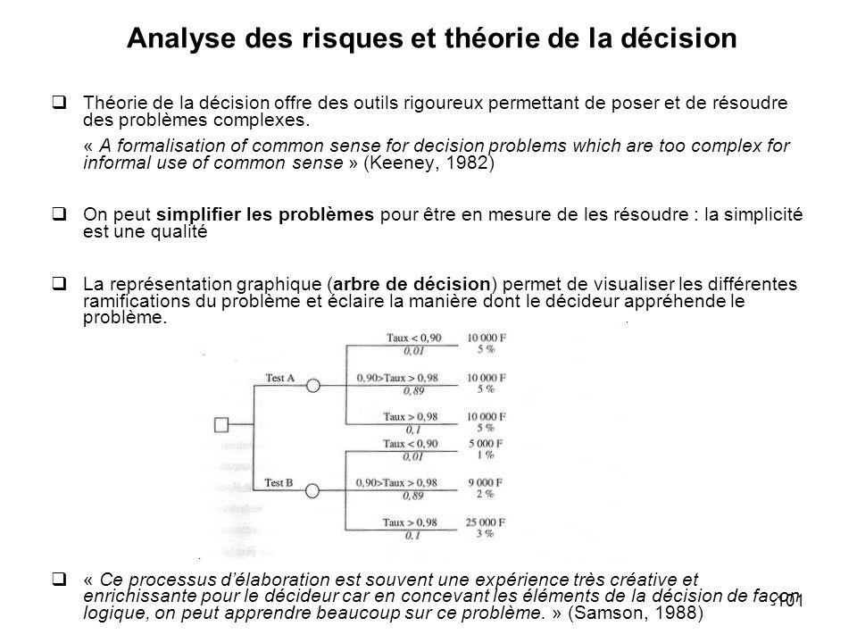 Analyse des risques et théorie de la décision