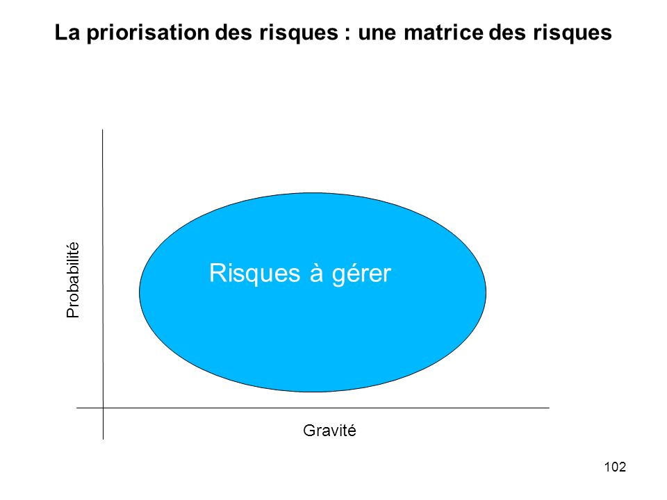 La priorisation des risques : une matrice des risques