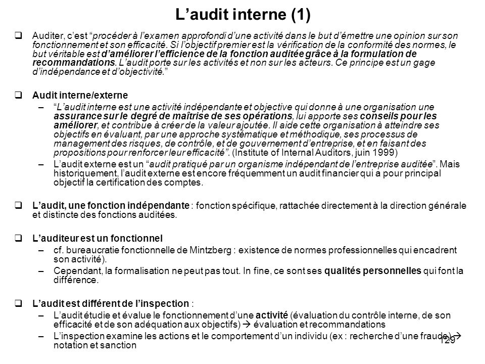 L'audit interne (1)