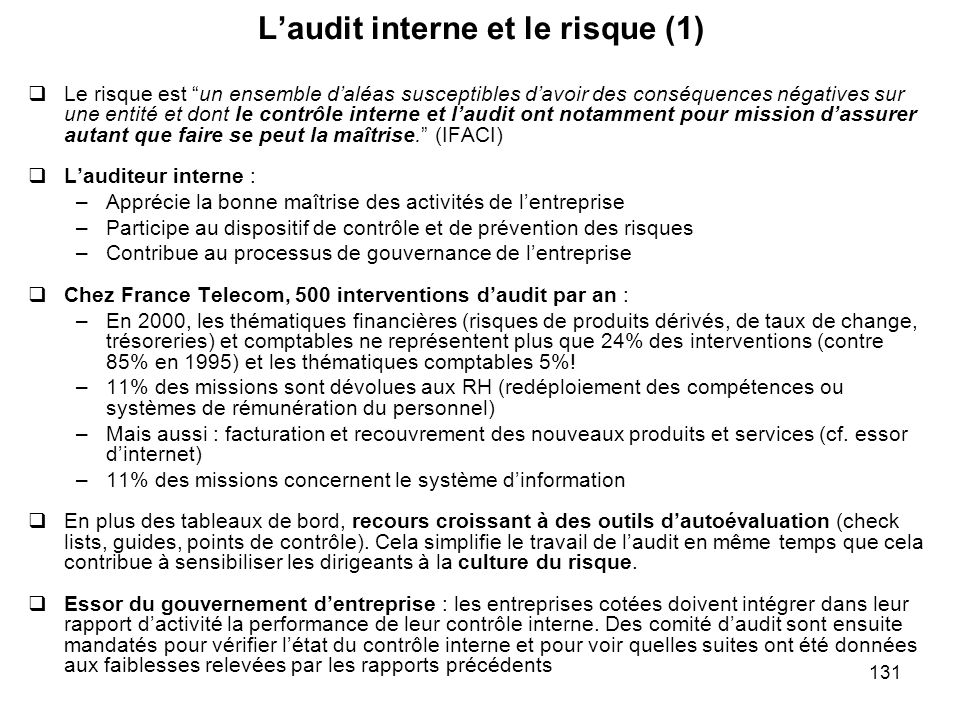 L'audit interne et le risque (1)