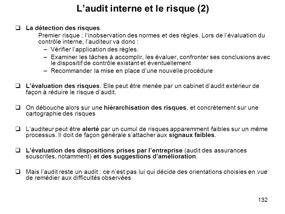 L'audit interne et le risque (2)