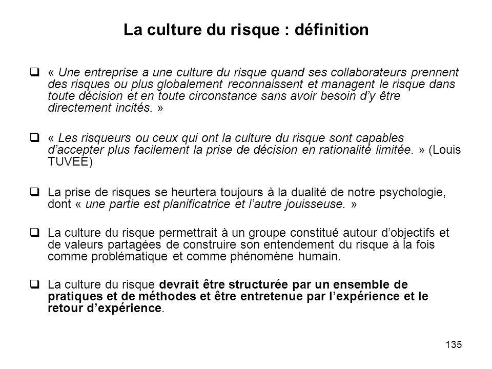 La culture du risque : définition
