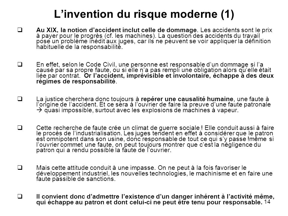 L'invention du risque moderne (1)