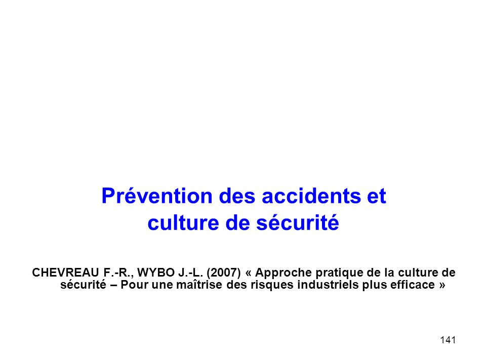 Prévention des accidents et